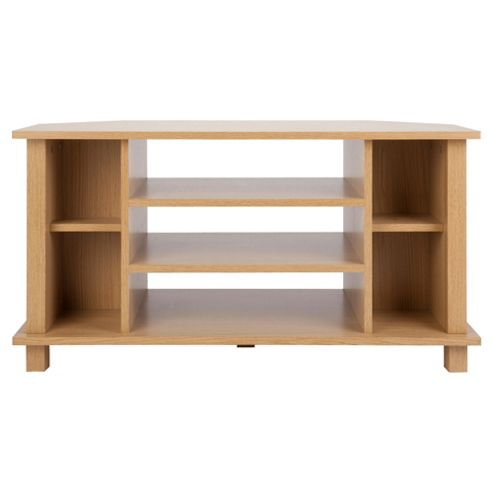 Milton Corner TV Unit, Oak-effect
