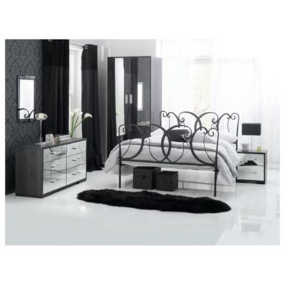 Sophia Bedroom Furniture Set , Mirrored