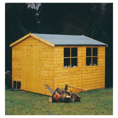 10x8 Finewood Heavy Double Door Workshop with Topcoat and Installation
