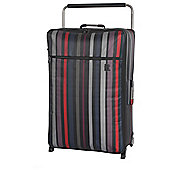 IT Luggage Worlds Lightest 2-Wheel X-Large Black Violet Stripe Suitcase