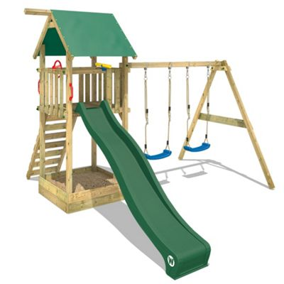 Wooden Climbing Frame Wickey Smart Empire Climbing Tower With Green Slide