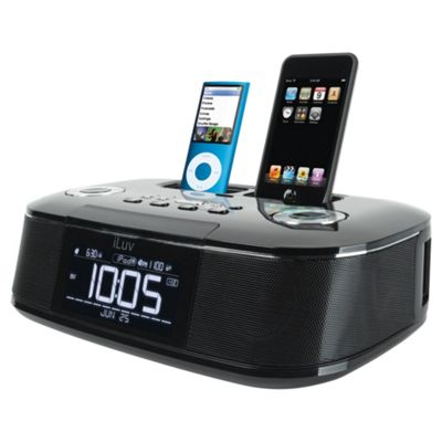 iLuv Imm173 clock radio with dual iPod/iPhone dock