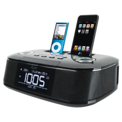iLuv Imm173 clock radio with dual iPod/iPhone dock