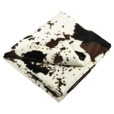 Buy Tesco Faux Fur Cow Print Throw From Our Throws Blankets