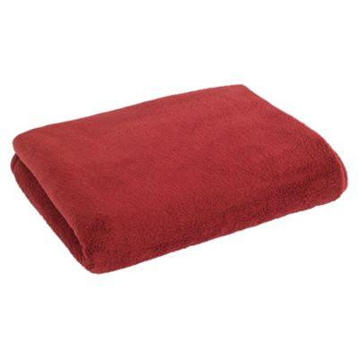 F&F Home Super Soft Throw - Berry