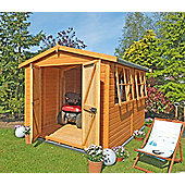 Workshop 10x10 with Double Doors & Apex Roof by Finewood