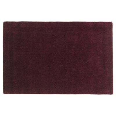 Tesco Rugs Wool Rug 100 x 150cm, Plum