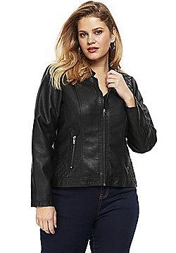 Evans Plus Size Biker Jacket - Black