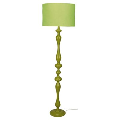 Tesco Lighting Spindle Floor Lamp, Lime