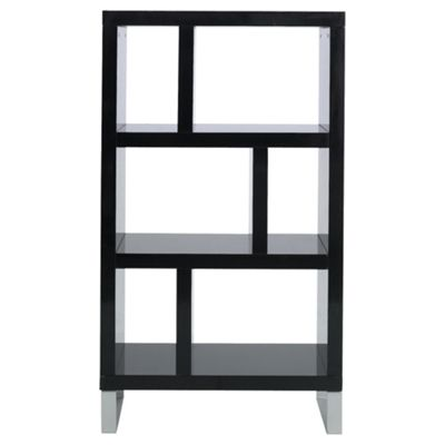 Costilla 3 Shelf Bookcase Black Gloss