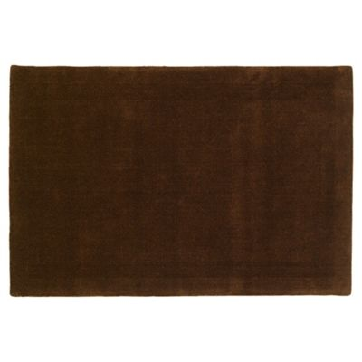 Tesco Rugs Wool Rug 100 x 150cm, Chocolate