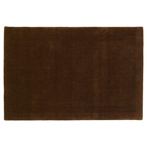 Tesco Rugs Wool Rug 100 x 150cm, Chocolate
