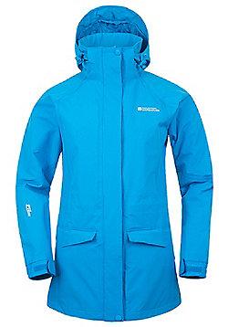 Glacier Extreme Womens Long Waterproof Jacket - Blue