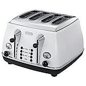De'Longhi CTO4003.W Icona Micalite 4 Slice Toaster - White