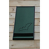 Integrated Eco Bat Box with Crevice Roosting Chamber in Green