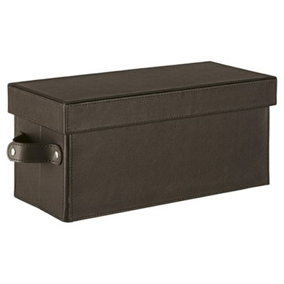 Tesco Leather Effect CD Storage Box, Brown