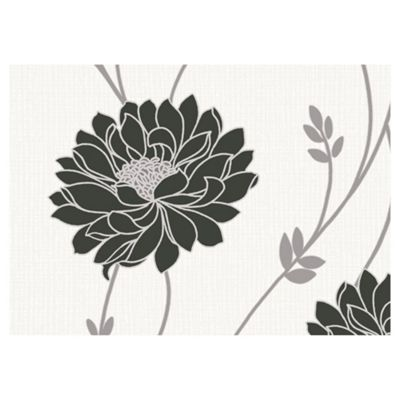 Arthouse Tilly Black and Cream Wallpaper