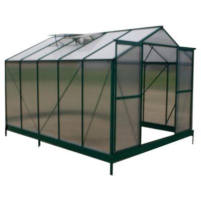 8 x 10 Aluminium & Polycarb Greenhouse
