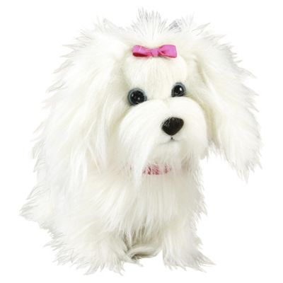 Animagic Fluffy Go Walkies White