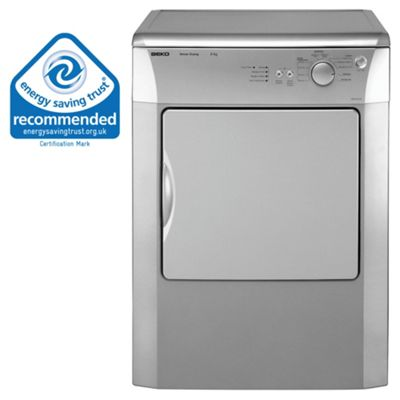 Beko DRVS62 Vented Tumble Dryer, 6 kg Load, C Energy Rating. Silver