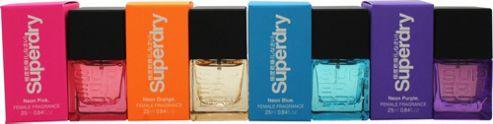 Superdry Neon Gift Set 25ml EDT Neon Pink + 25ml EDT Neon Blue + 25ml EDT Neon Purple + 25ml EDT Neon Orange For Women