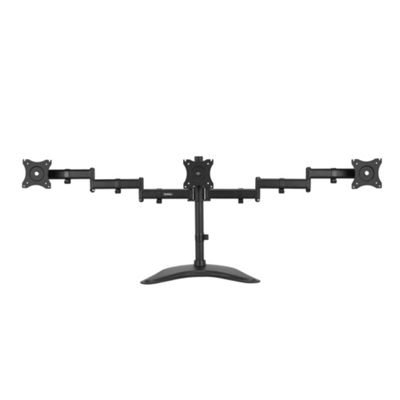 VonHaus Fully Adjustable Triple Three Arm LCD LED Monitor Desk Mount Bracket Stand with ±45° Tilt & ±180° Swivel