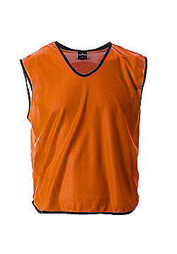 Mesh Football Rugby Sports Training Tank Top Sports Bib Orange - Orange