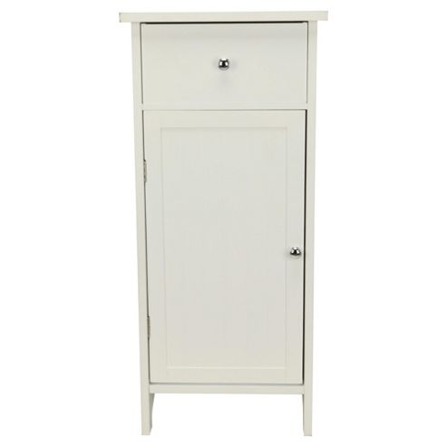Southwold White Wood Tongue & Groove Single Door Drawer Unit
