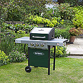 Outback Meteor Hooded Burner Green Gas Barbecue