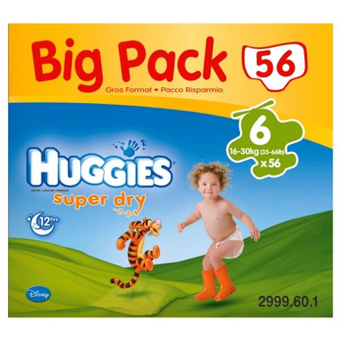 Huggies Super-Dry Big Pack Size 6 (x 56)