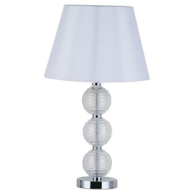 Tesco Lighting 3 Ball Table Lamp, Clear