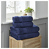 Fox & Ivy 4 Piece Egyptian Cotton Navy Towel Bale
