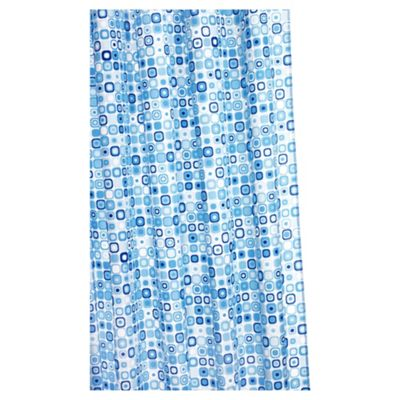 Croydex Patterned Polyester Shower Curtain Anti-Bac