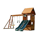 Selwood Duke Climbing Frame - Two Slides & Monkey Bars Swings