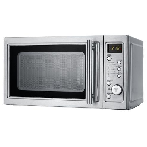 Tesco MC209 20L 1200W Combi Oven & Grill Microwave - Silver