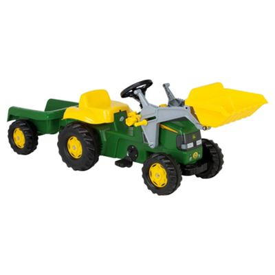 John Deere Tractor Pedal Ride-On With Trailer & Scoop