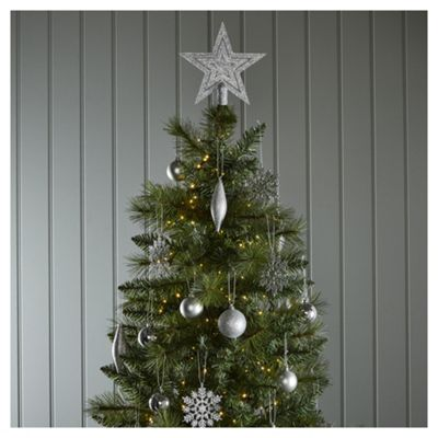 Buy Silver Mixed Christmas Tree Decorations, 50 Pack from our All ...