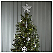 silver mixed christmas tree decorations 50 pack