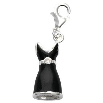 Sterling Silver Black Dress Charm