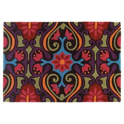 Tesco Rugs Bright Ethnic Design Rug, L170Xw120Cm