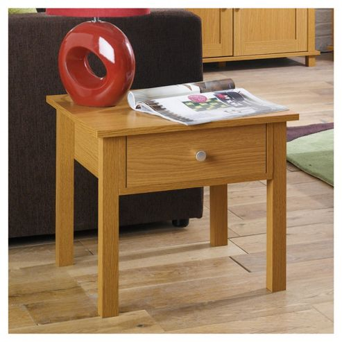 Milton Side Table, Oak-effect