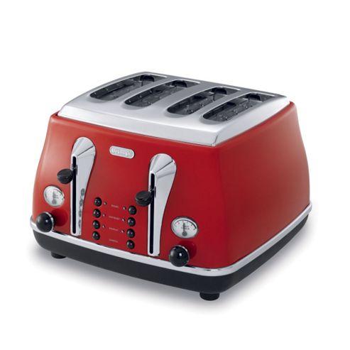 De'Longhi 75-780 Icona 4 Slice Toaster Red