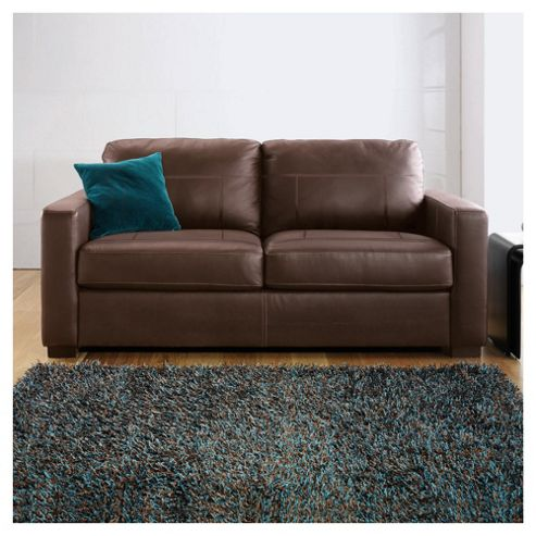 Colorado Leather Sofa Bed, Brown