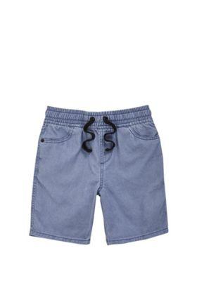 F&F Pull-On Drawstring Shorts Blue 5-6 years