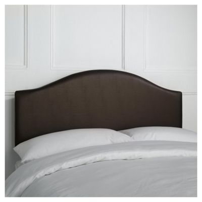 Seetall Laredo Double Faux Leather Headboard, Chocolate