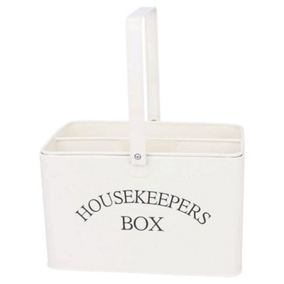 Cream Enamel Housekeepers Box