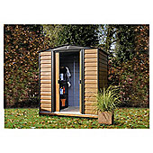 Rowlinson Woodvale Wood Effect Metal Garden Shed, 6x5ft