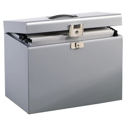 Pierre Henry A4 Metal Box File, Silver