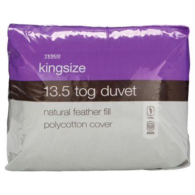 Tesco Feather 13.5 Tog Duvet - Kingsize