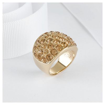 Pave Crystal Ring, Large